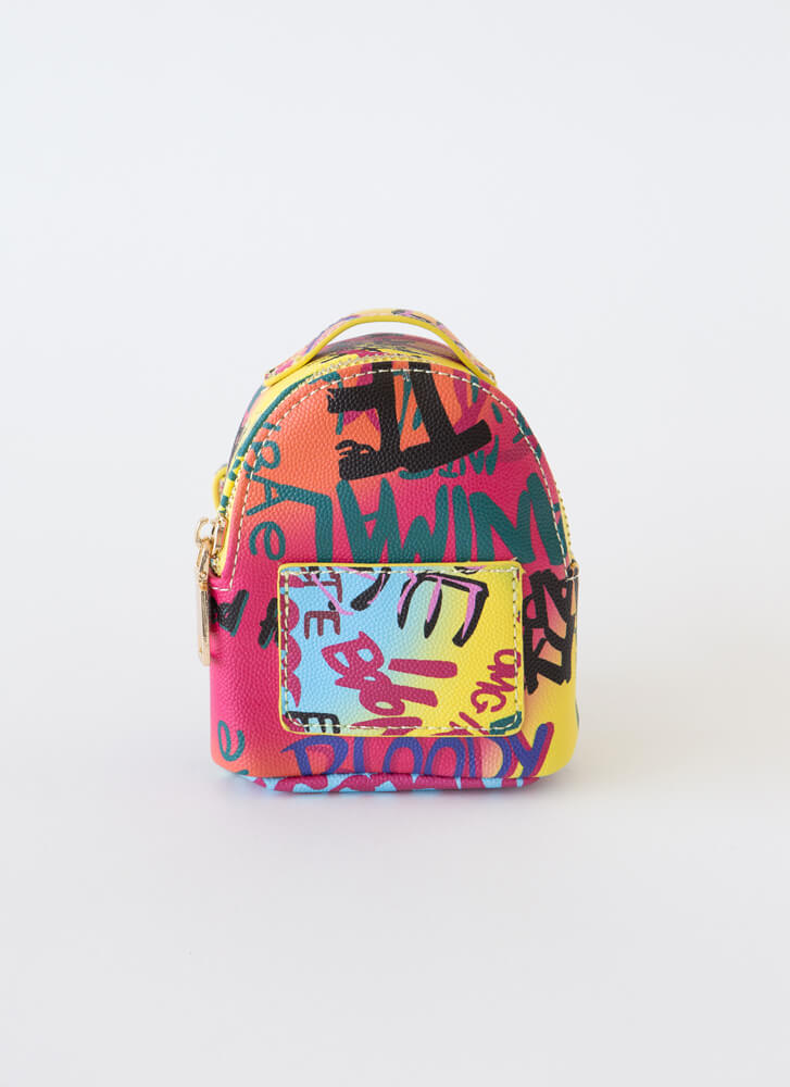 Tag Me Graffiti Backpack Arm Pouch MULTI
