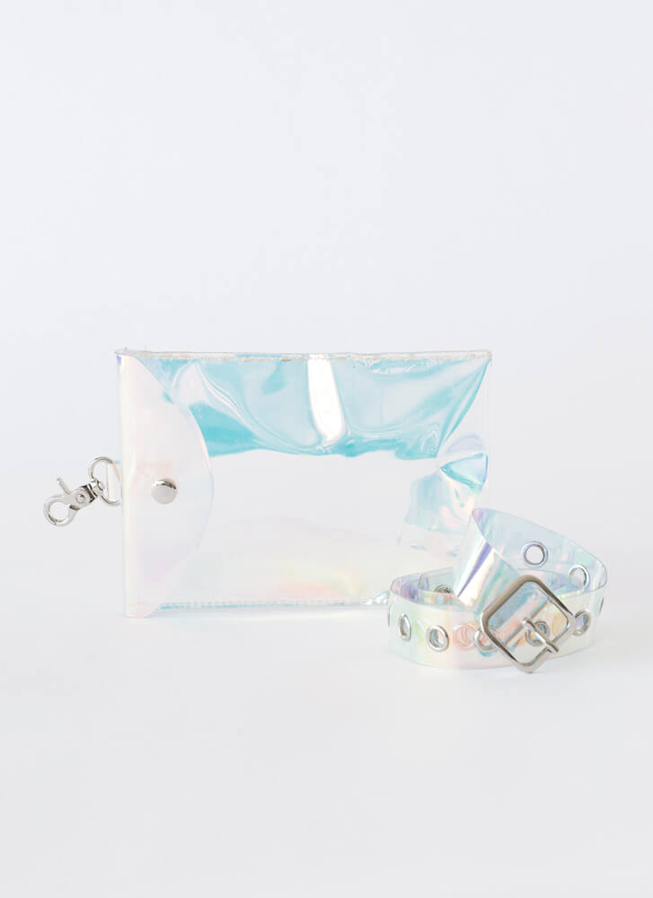 Coolness Iridescent Pouch And Belt Set MULTI