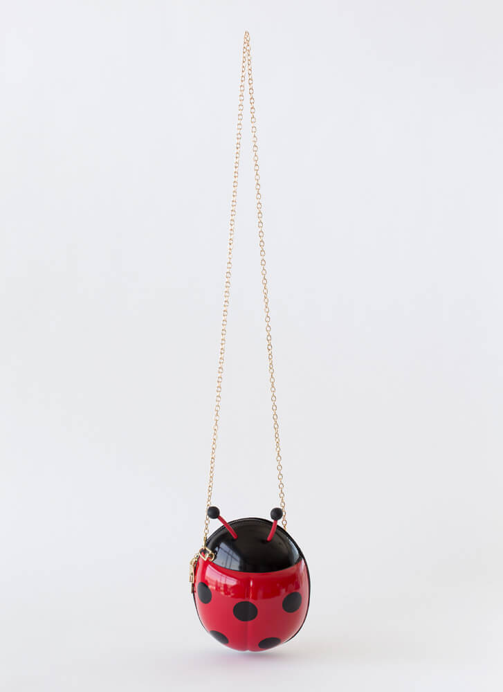 Luck Be A Ladybug Novelty Purse RED