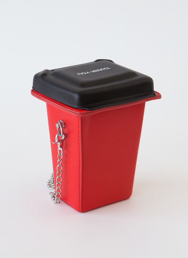Reduce Reuse Recycle Bin Novelty Clutch RED