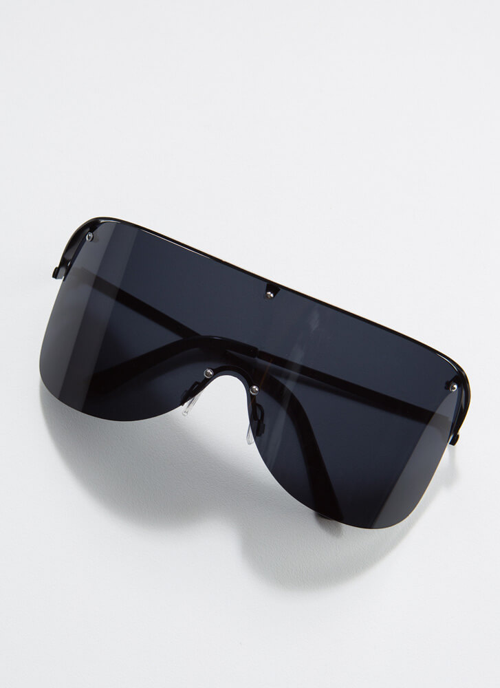 Sun's Out Sunnies Out Goggle Sunglasses BLACK