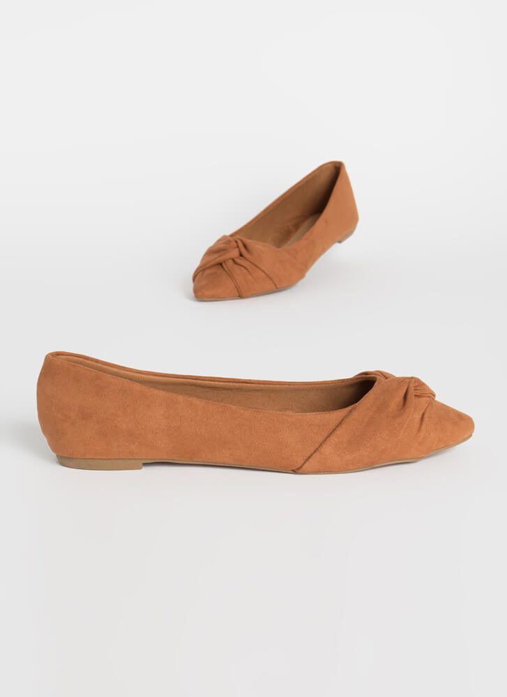 Knot Without A Twist Wrapped Flats DKCAMEL