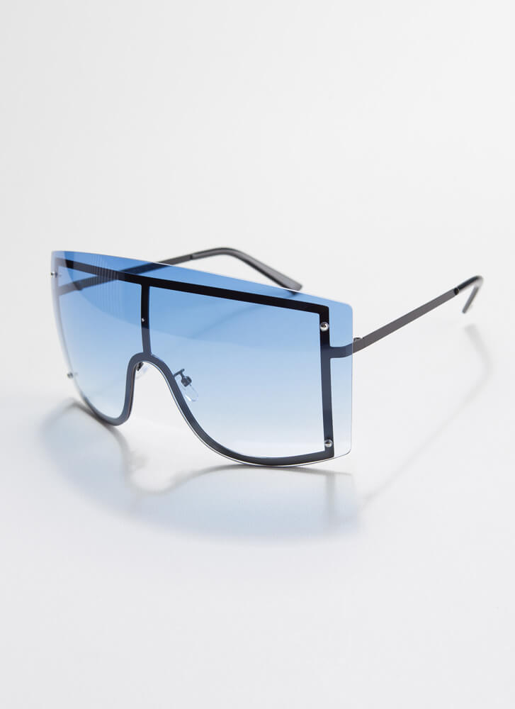 Going Down Under Goggle Sunglasses BLUE