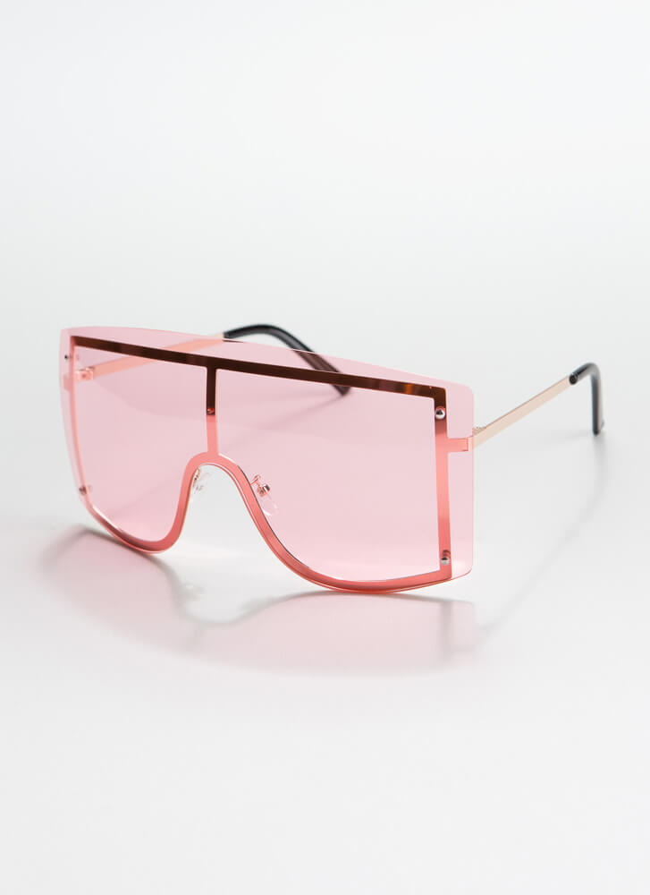 Go Down Under Goggle Sunglasses PINK