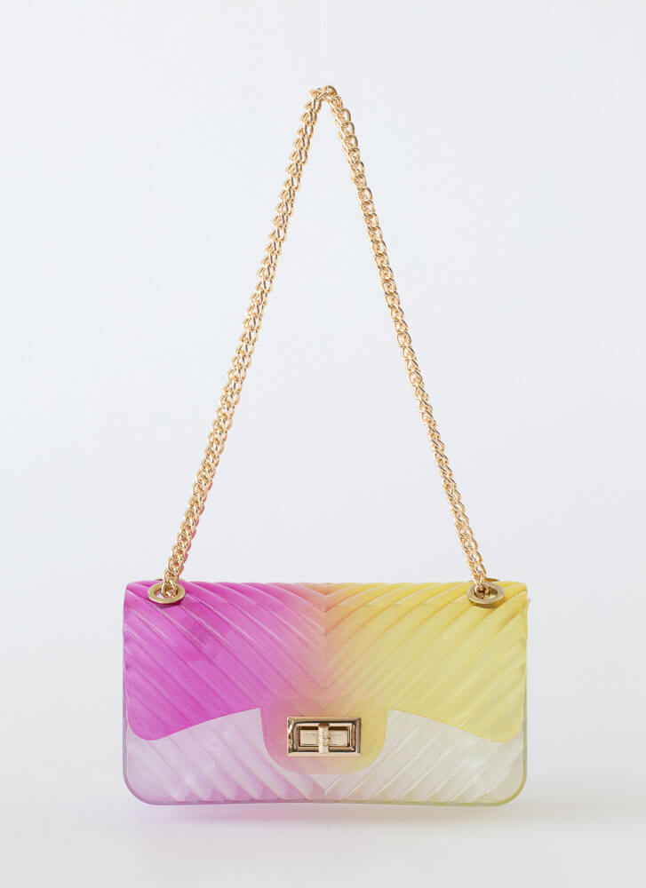 Watch Your 2-Tone Ombre Jelly Handbag MULTI