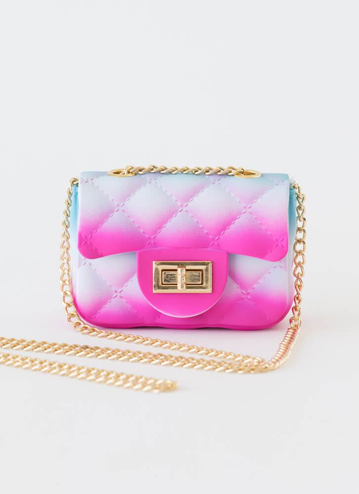 Spray Your Piece Faux Quilted Mini Purse MULTI