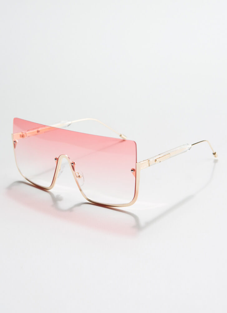 See Below Squared Ombre Sunglasses PINK