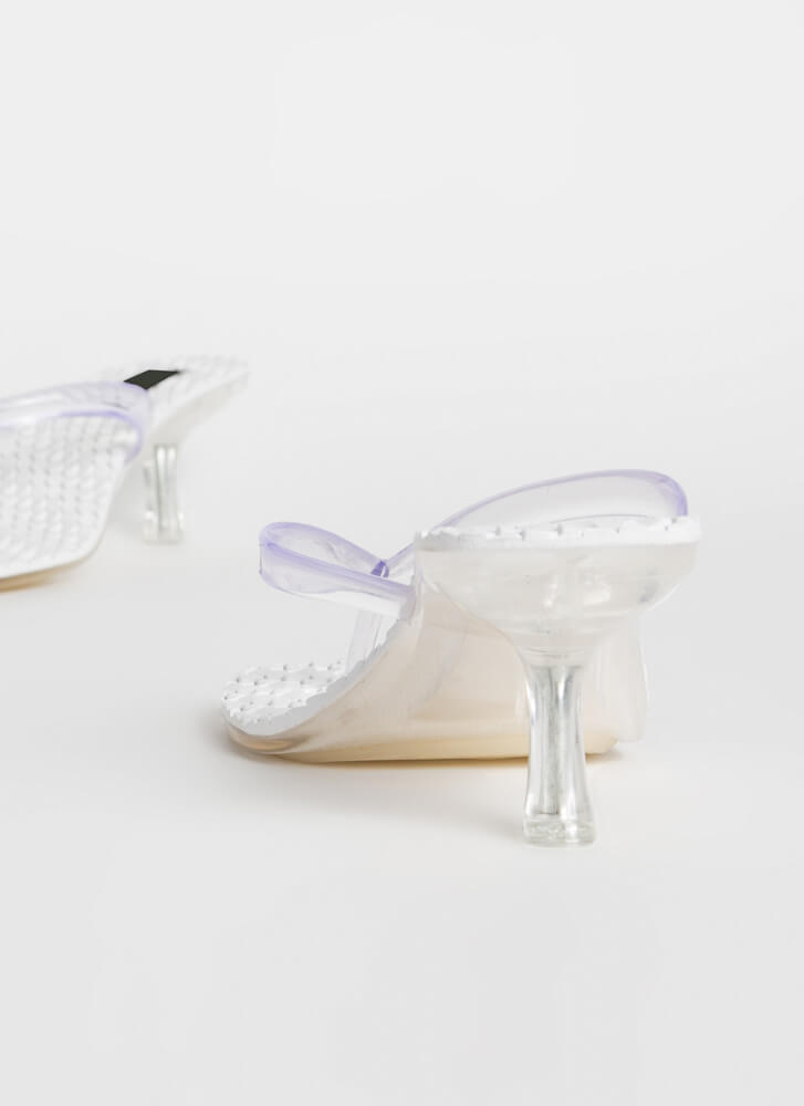 Hive A Nice Day Jelly Thong Heels CLEAR