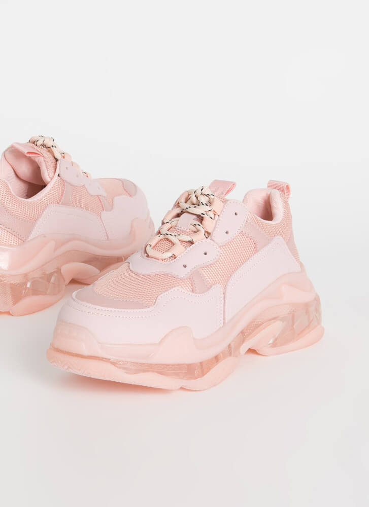 Sweet Kicks Sporty Platform Sneakers BLUSH