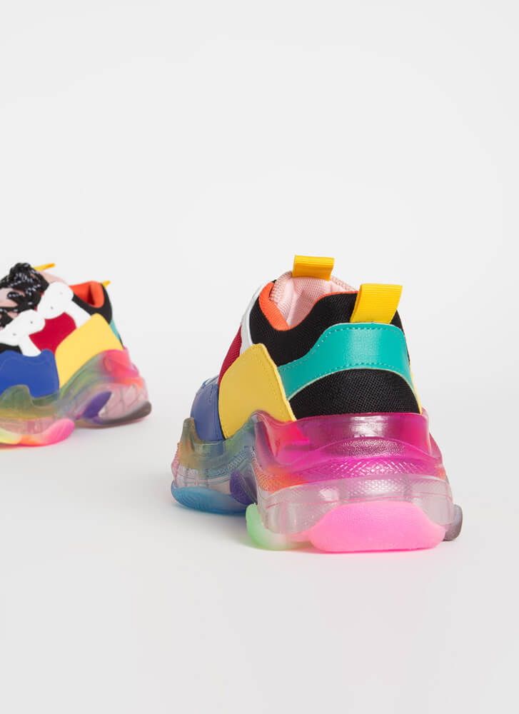 Sweet Kicks Sporty Platform Sneakers RAINBOW