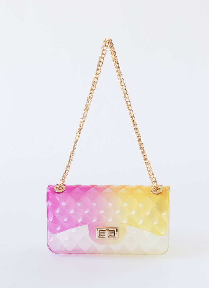 Quilty Pleasure Ombre Jelly Purse MULTI