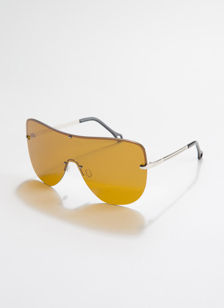 Cool Your Jets Goggle Sunglasses BROWN
