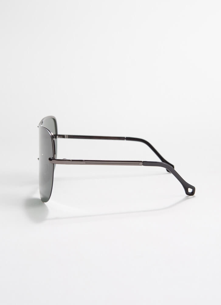 Cool Your Jets Goggle Sunglasses OLIVE