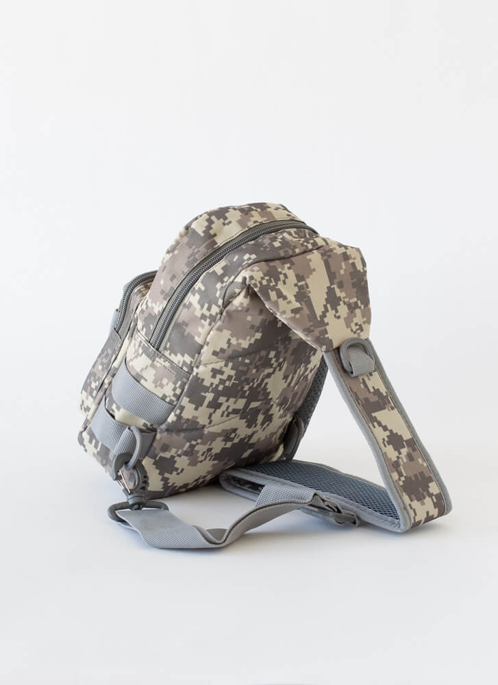 I'm Outtie Mini Camo Sling Backpack GRAY