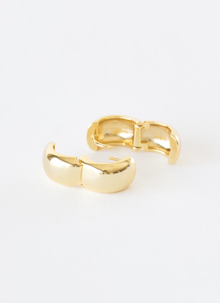 Small Stuff Chunky Hoop Earrings GOLD