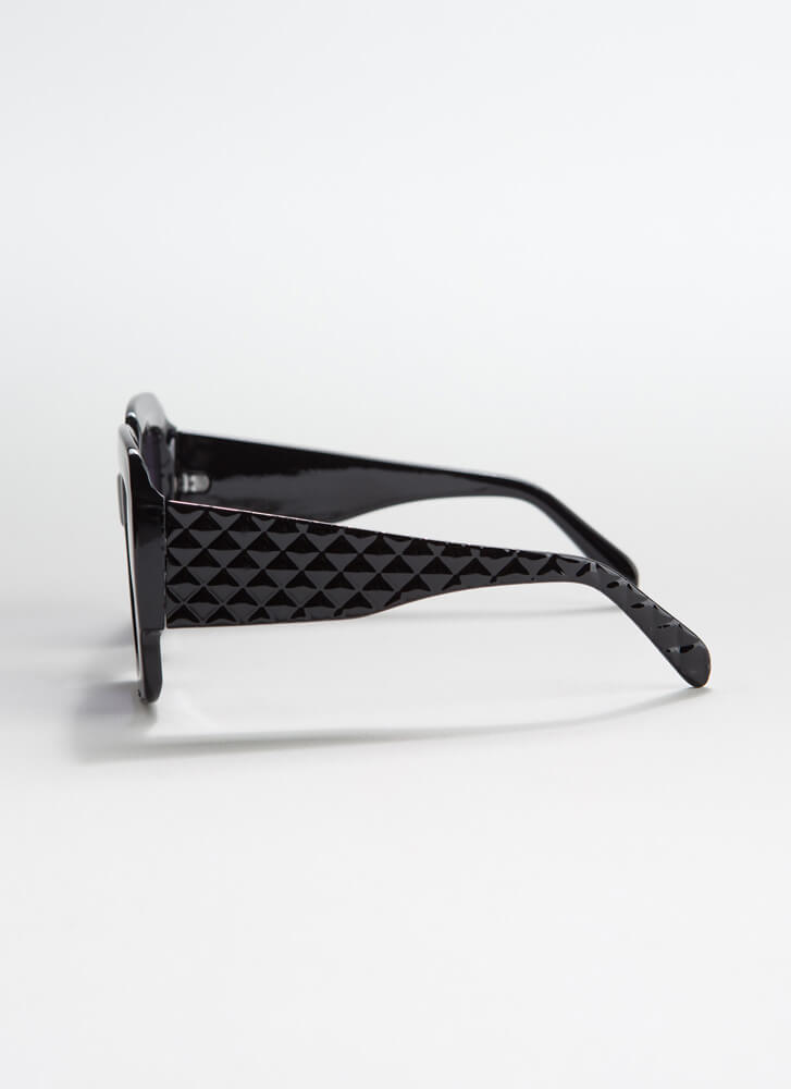 Geometry Class Thick-Rimmed Sunglasses BLACK