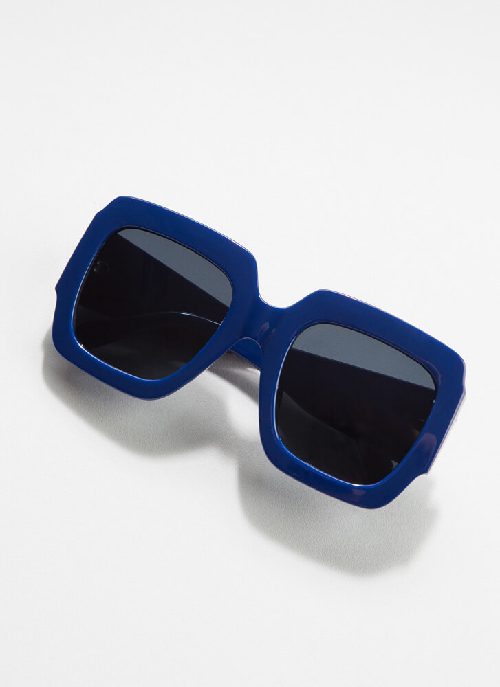 Geometry Class Thick-Rimmed Sunglasses BLUE