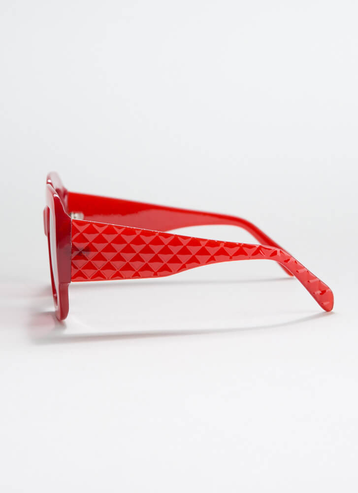 Geometry Class Thick-Rimmed Sunglasses RED