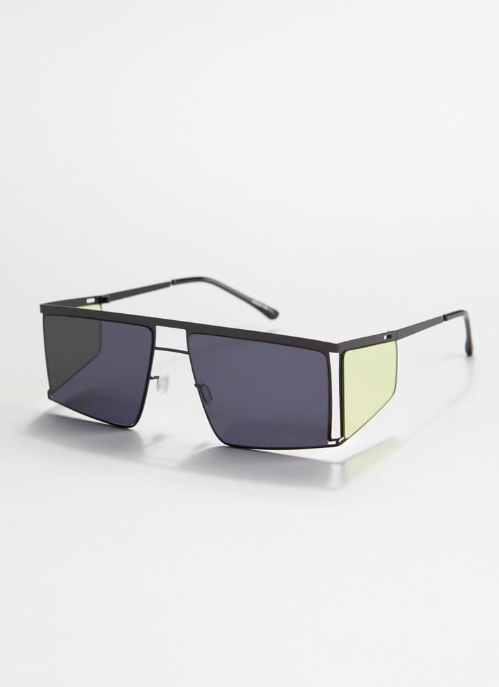 Blinder Ambition Squared Sunglasses BLACKYELLOW
