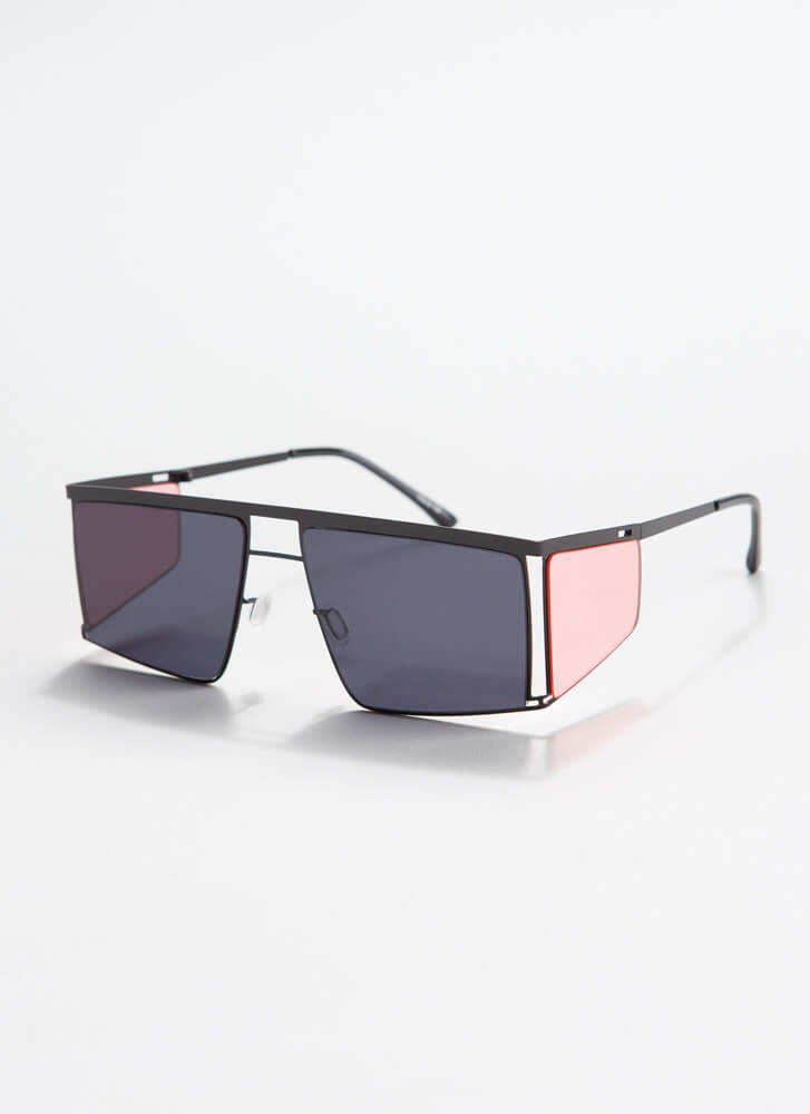 Blinder Ambition Squared Sunglasses PINK