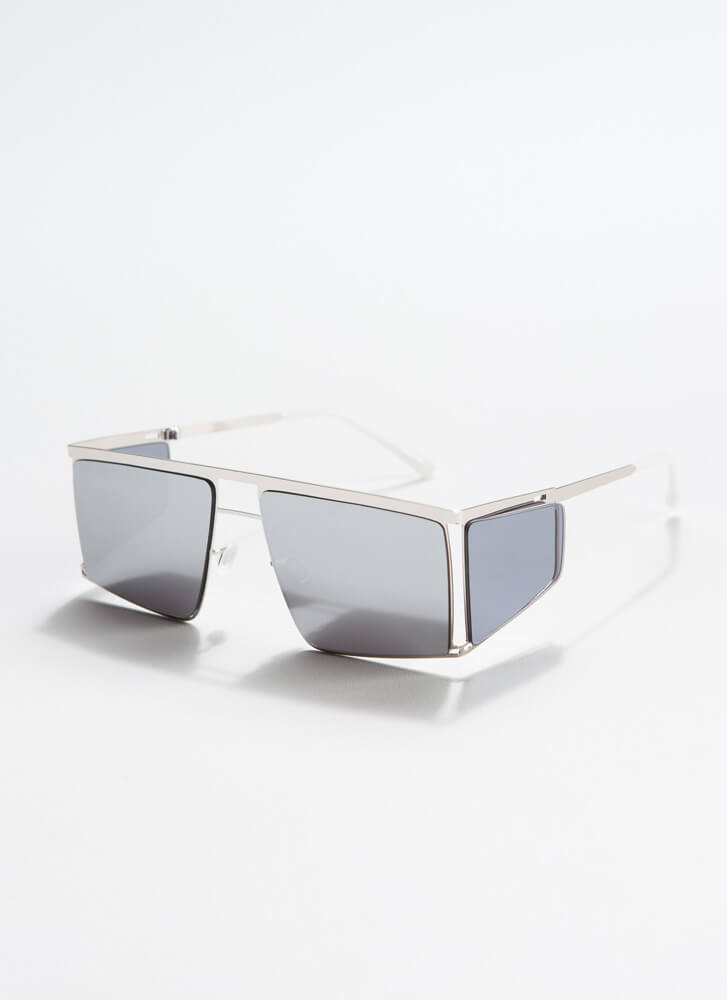 Blinder Ambition Squared Sunglasses SILVER