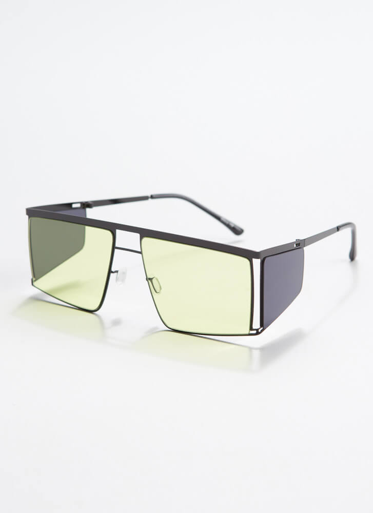 Blinder Ambition Squared Sunglasses YELLOW