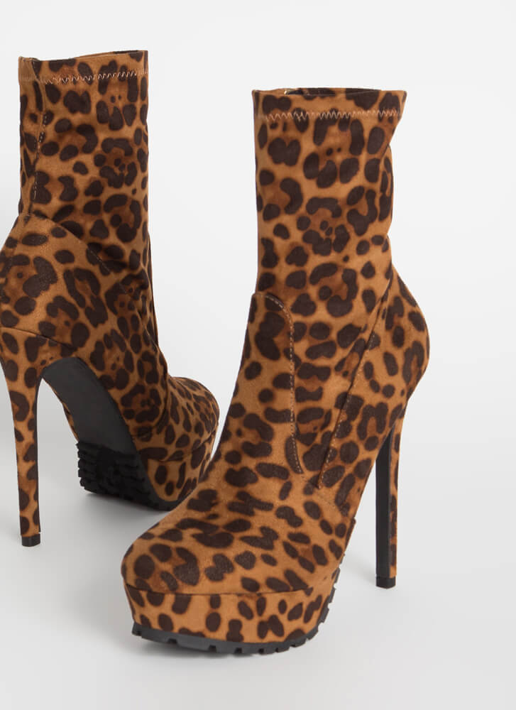 I Lug You So Much Leopard Booties LEOPARD
