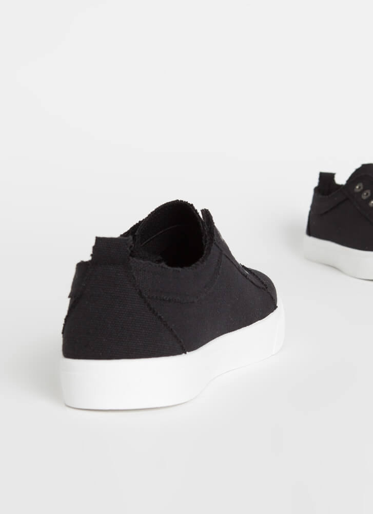 Unfinished Business Canvas Sneakers BLACK