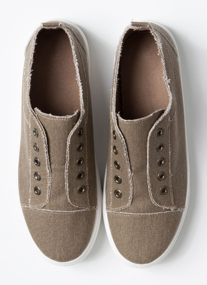 Unfinished Business Canvas Sneakers TAUPE