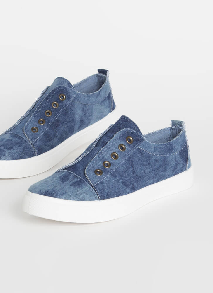Unfinished Business Denim Sneakers BLUE