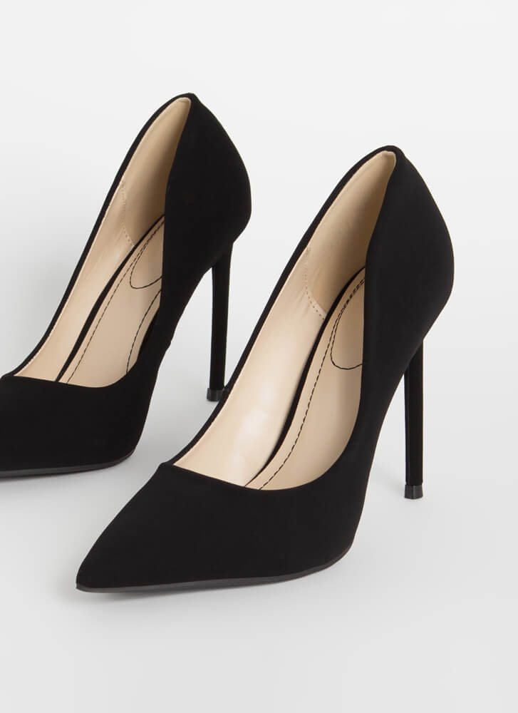 Unconditional Love Pointy Stiletto Pumps BLACK