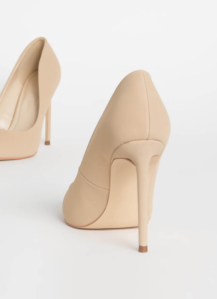 Unconditional Love Pointy Stiletto Pumps NUDE