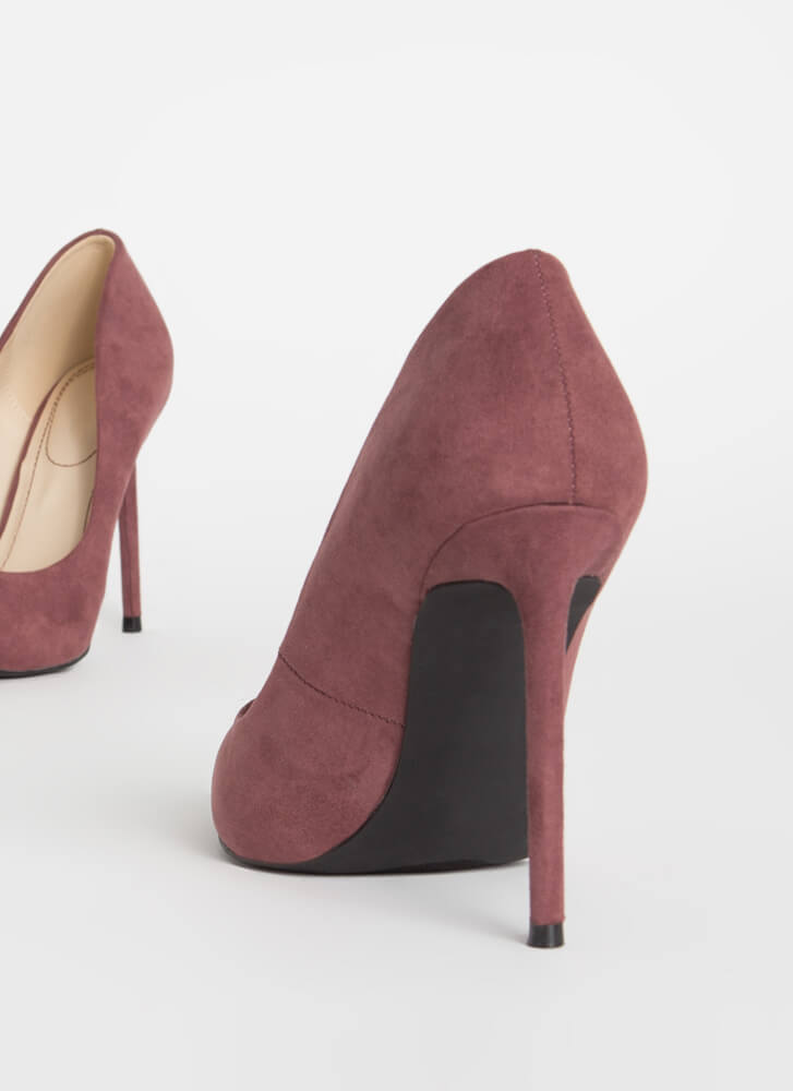 Unconditional Love Pointy Stiletto Pumps PURPLE