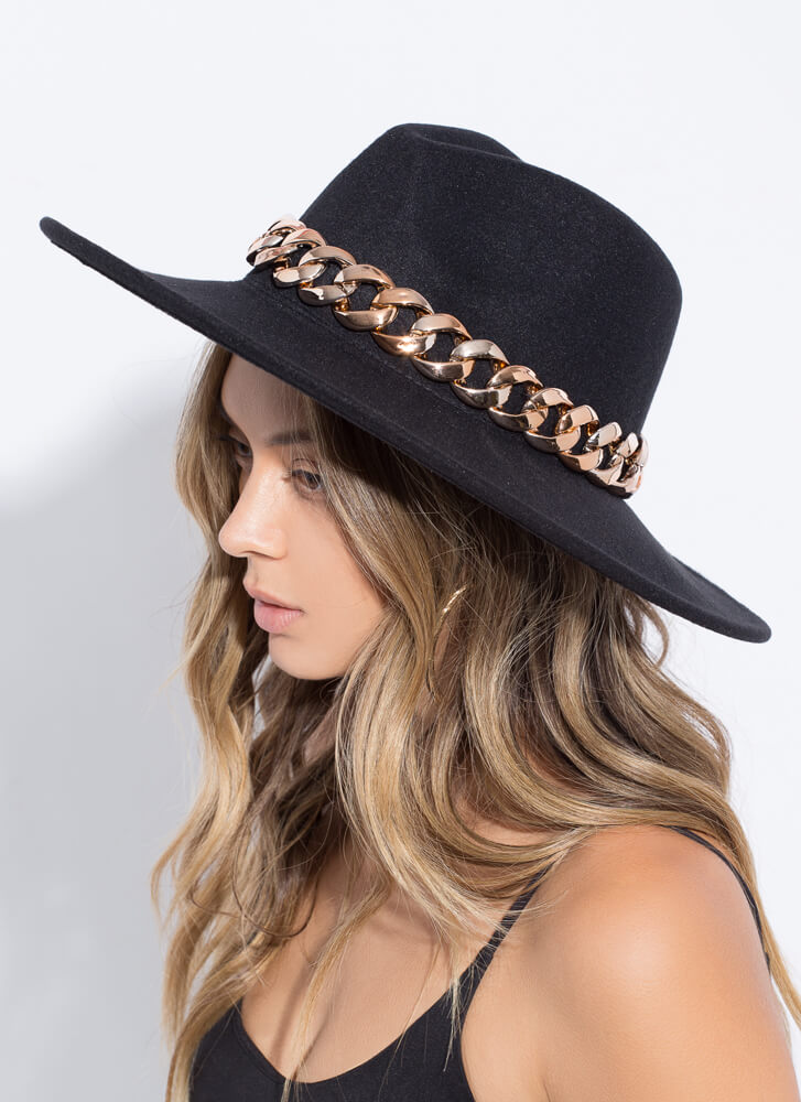 Chain Reaction Felted Rancher Hat BLACK