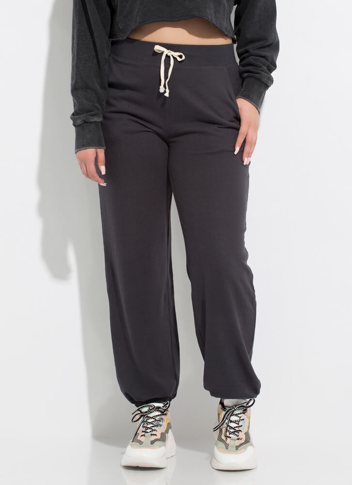 Lounge Where Soft-Knit Sweatpant Joggers CHARCOAL