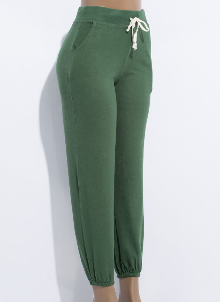 Lounge Where Soft-Knit Sweatpant Joggers DKGREEN