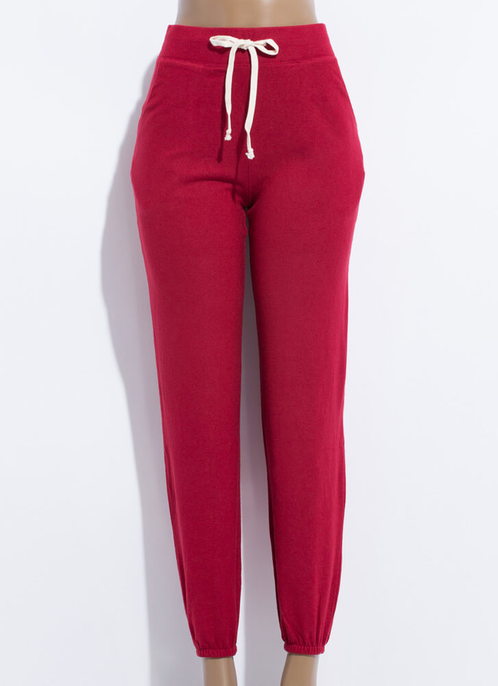 Lounge Where Soft-Knit Sweatpant Joggers WINE