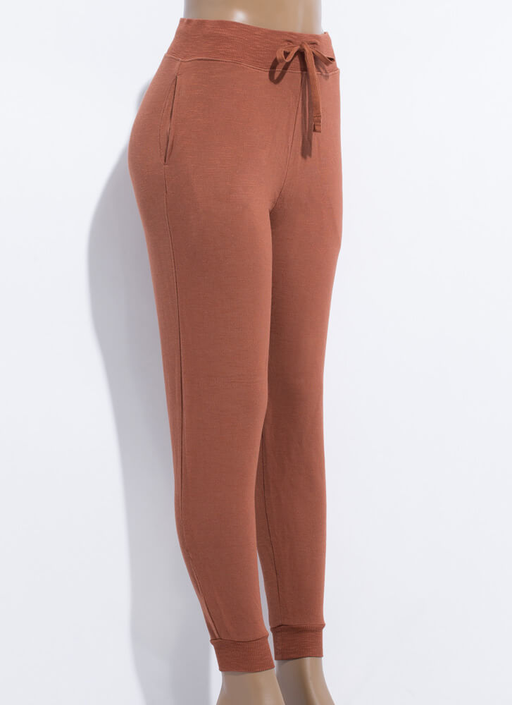 Inside And Out Sweatpant Joggers BROWN