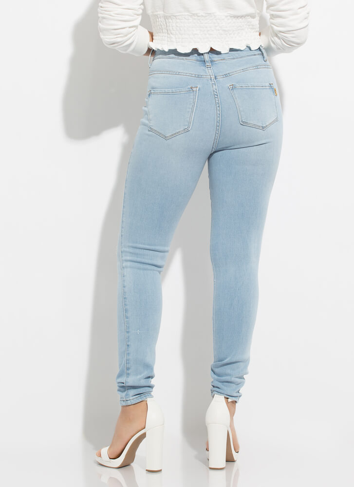 Kneed To Know Distressed Skinny Jeans LTSTONE