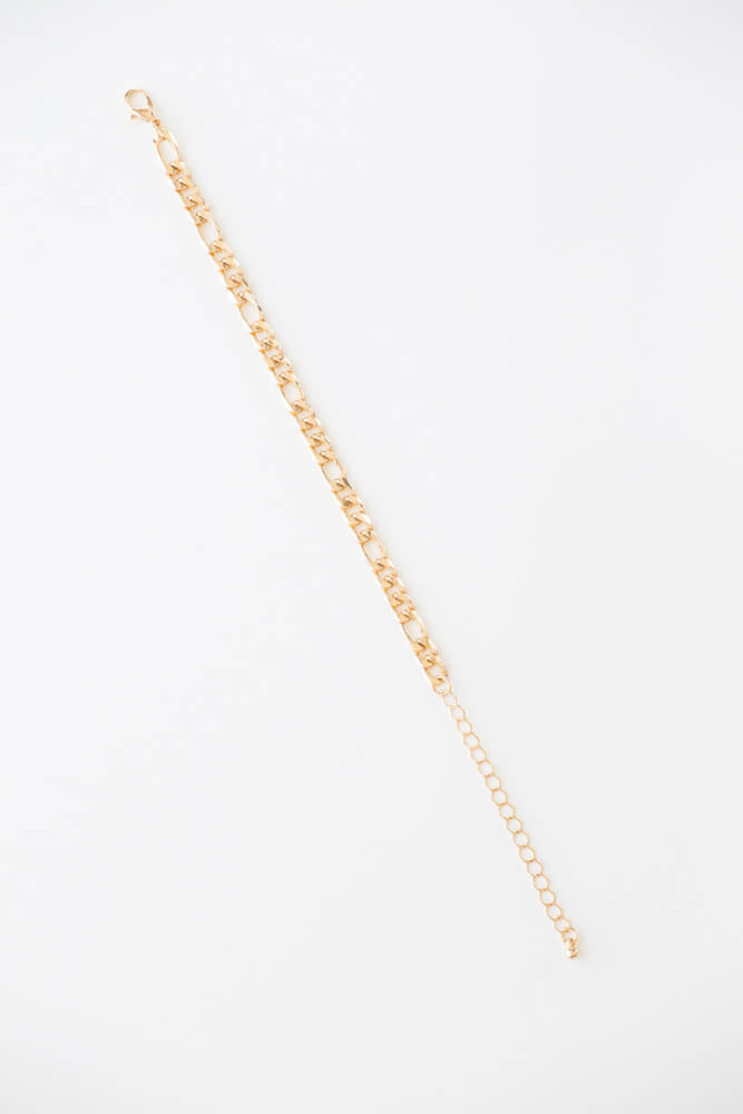 Simply Chic Figarucci Chain Anklet GOLD