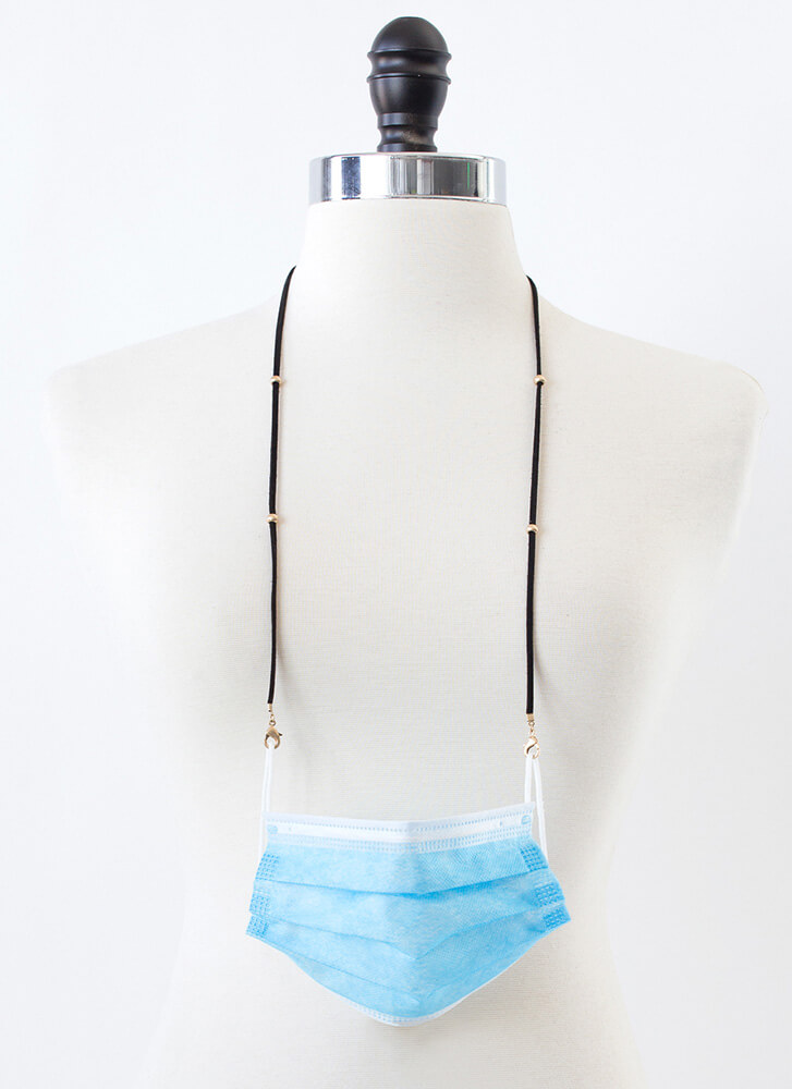 Can't Be Bead Mask And Glasses Strap BLACK