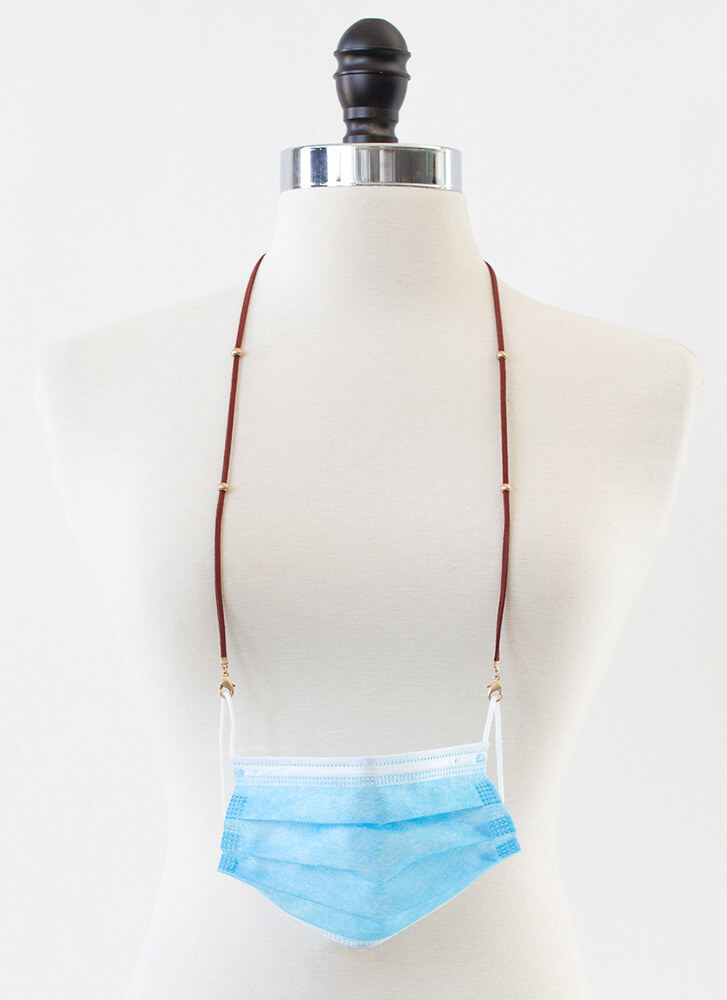Can't Be Bead Mask And Glasses Strap BURGUNDY