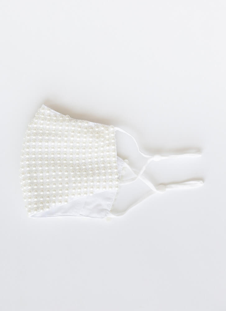 Pearly Beloved Pocketed Face Mask IVORY