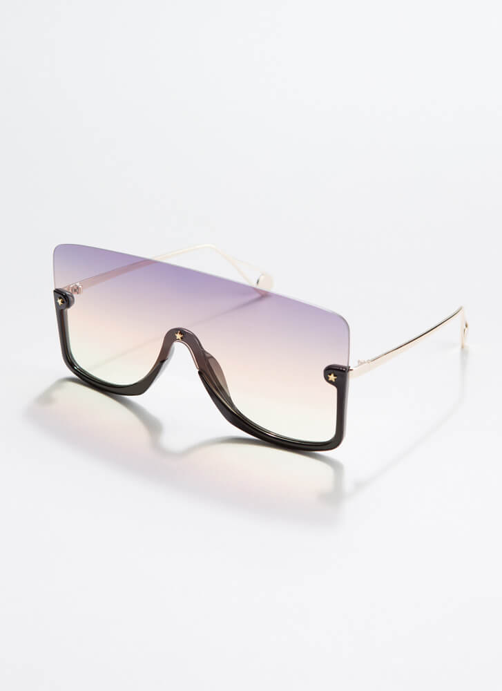 Star-Studded Event Ombre Sunglasses BROWNYELLOW