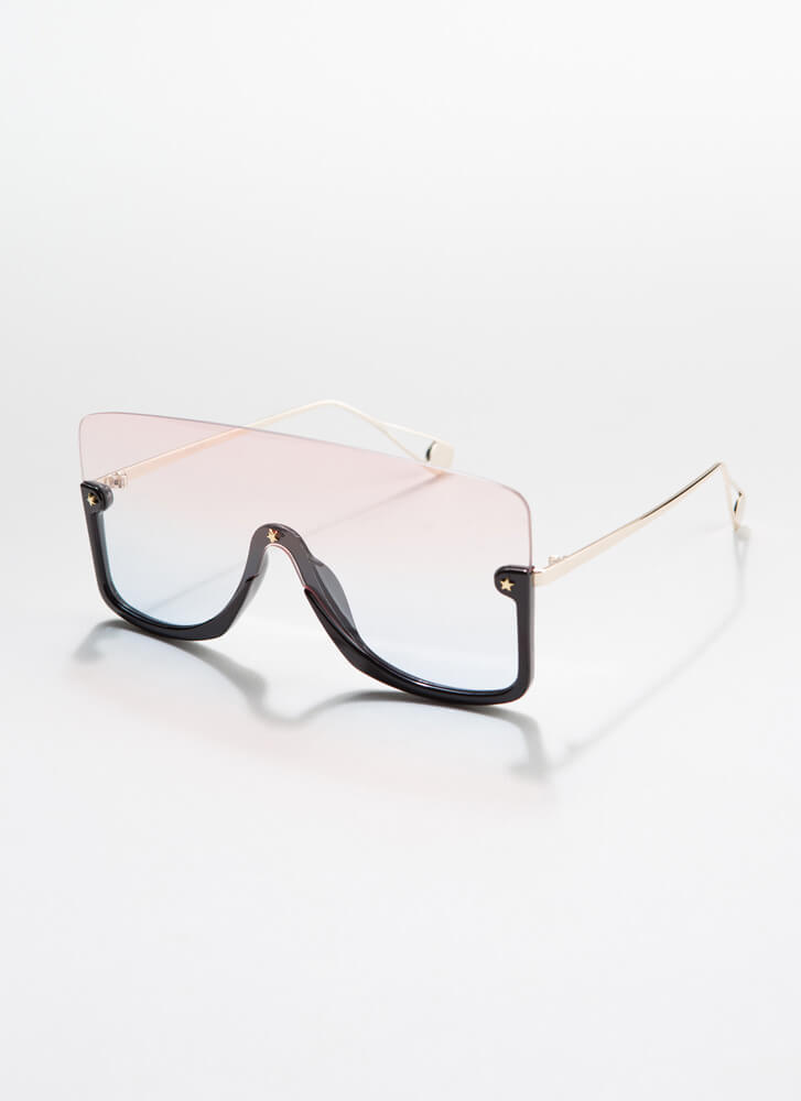 Star-Studded Event Ombre Sunglasses PINKBLACK