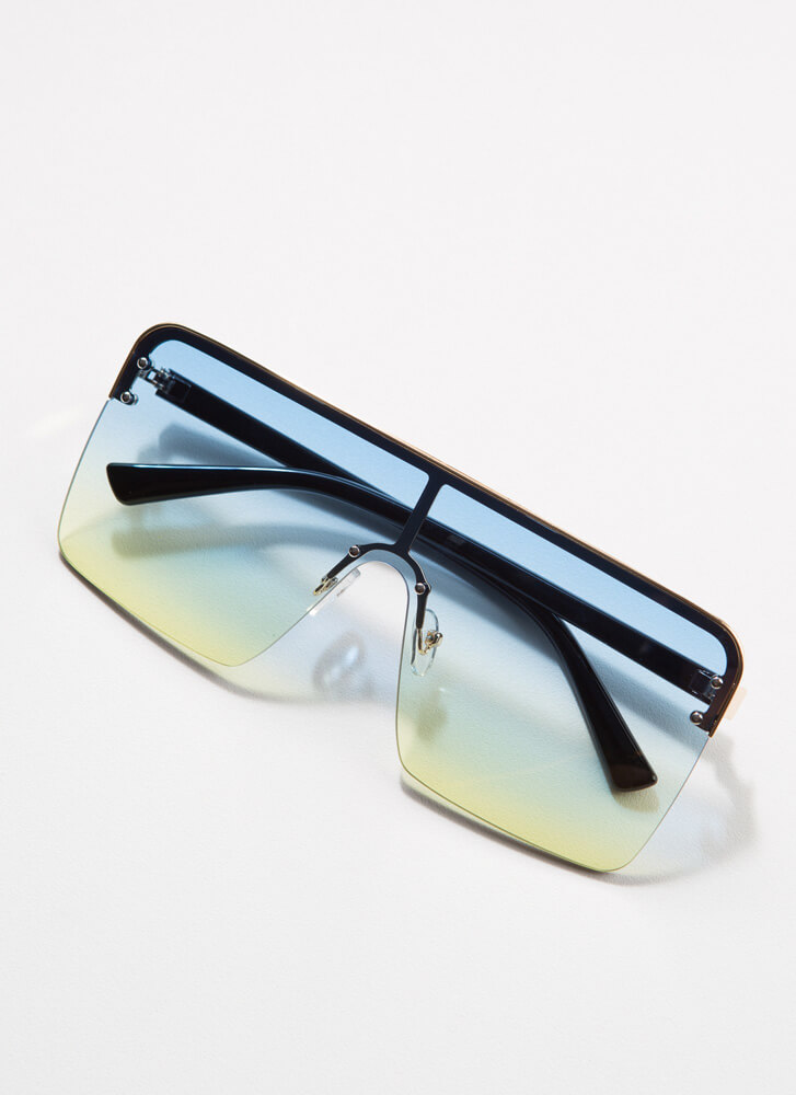 I Square On My Life Ombre Sunglasses BLUE