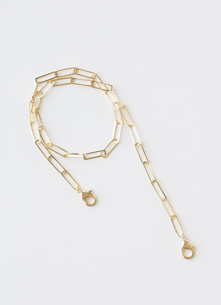 The Chicest Link Face Mask Chain GOLD