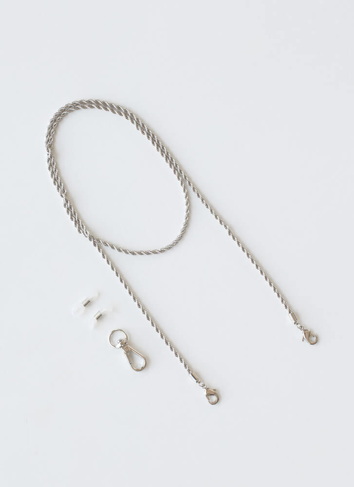 End Of Your Rope Mask And Glasses Chain SILVER