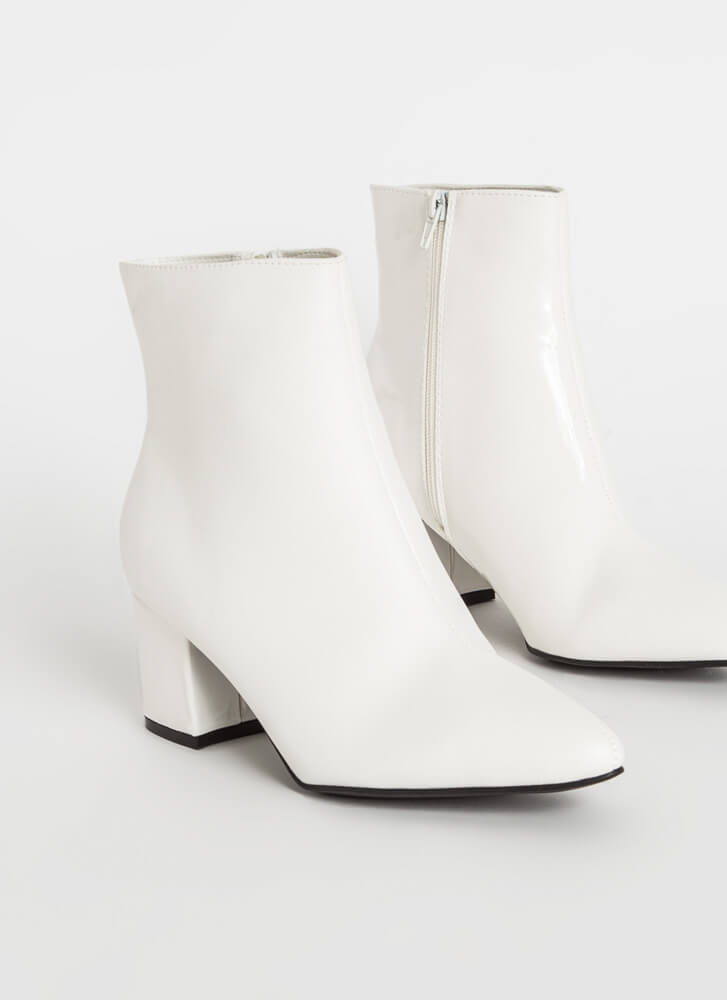 2 Sides To The Story Mixed Media Booties WHITEWHITE