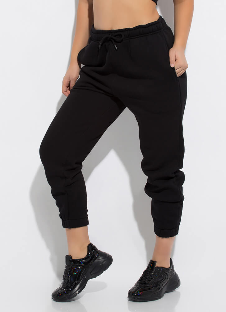 Not Your Boyfriend's Jogger Sweatpants BLACK